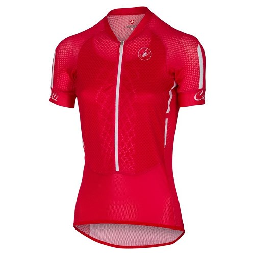 [해외][카스텔리] Jersey Castelli Woman Climbers - Red